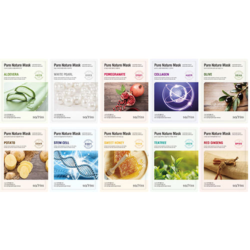 [Secriss] Pure Nature Mask Pack 10Sheets (1ea of each types)