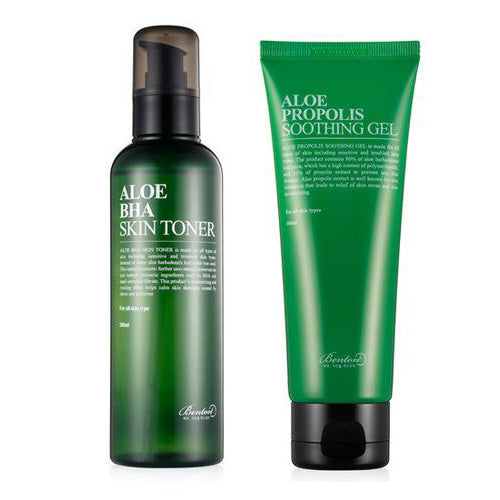 [SET] [Benton] Aloe BHA Skin Toner 200ml + Aloe Propolis Soothing Gel 100ml
