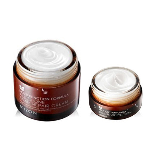 [SET][Mizon] All In One Snail Repair Cream 75ml + Snail Repair Eye Cream 25ml - Cosmetic Love