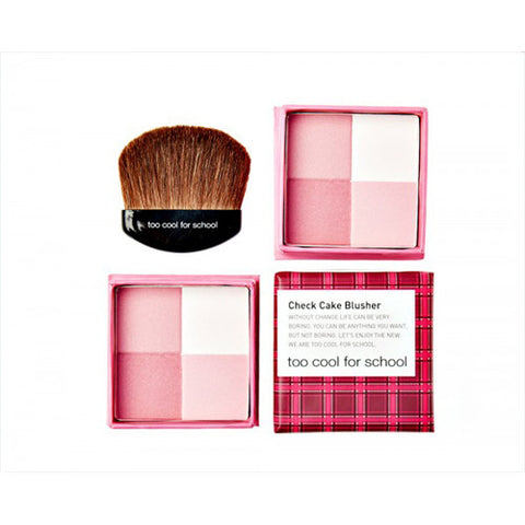 [Too Cool For School] Check Cake Blusher #01 Pink - Cosmetic Love