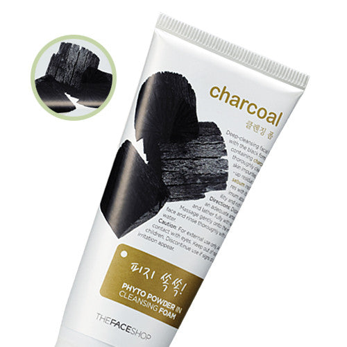 [The Face Shop] Charcoal Phyto Powder In Cleansing Foam - Cosmetic Love