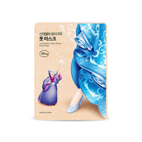 [The Face Shop] Cinderella's Glass Shoes Foot Mask 18ml (Disney Princess Edition) - Cosmetic Love