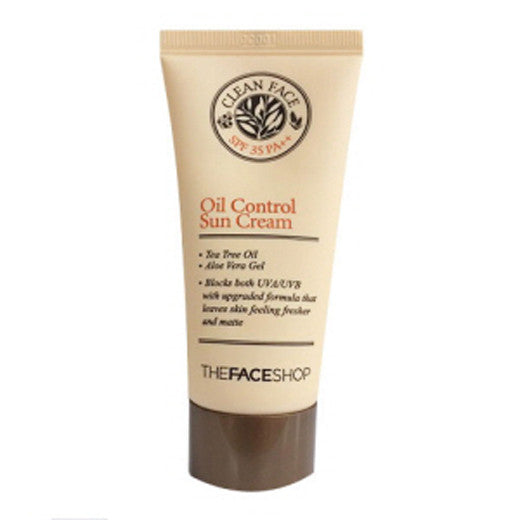 [The Face Shop] Clean Face Oil Control Sun Cream 50ml - Cosmetic Love