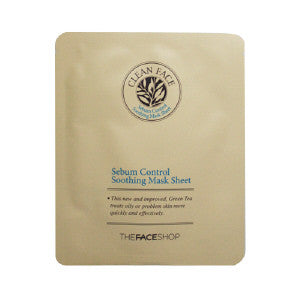 [The Face Shop] Clean Face Sebum Control Soothing Mask Sheet - Cosmetic Love