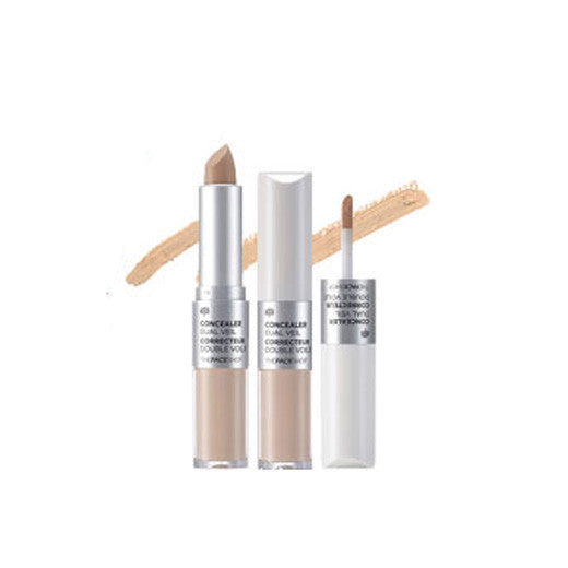 [The Face Shop] Concealer Dual Veil 4.3g + 3.8g - Cosmetic Love