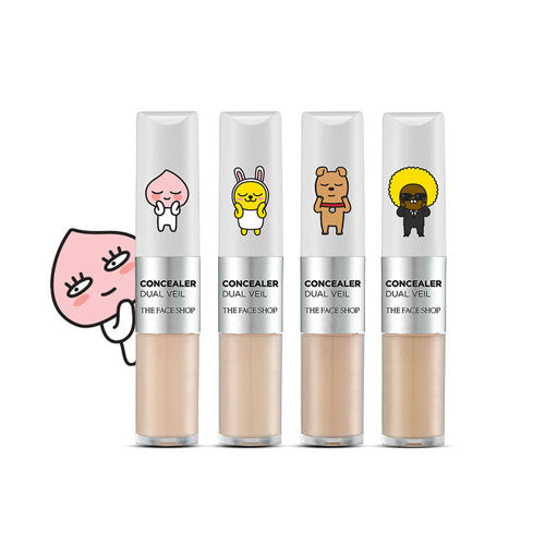 [The Face Shop] Concealer Dual Veil (Kakao Friends Edition) - Cosmetic Love