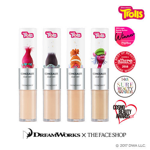 [The Face Shop] Concealer Dual Veil (Trolls Edition) 4.3g+3.8g - Cosmetic Love