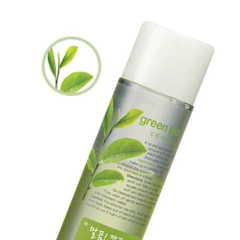 [The Face Shop] Green Tea Phyto Powder In Lip & Eye Remover - Cosmetic Love