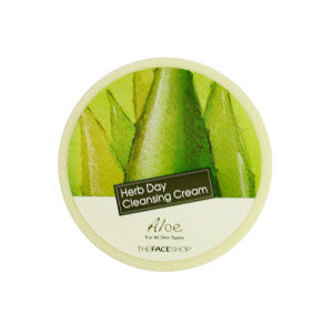 [The Face Shop] Herb Day Cleansing Cream Aloe - Cosmetic Love