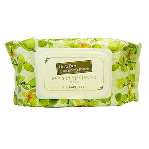 [The Face Shop] Herb Day Cleansing Tissue (70Sheets) - Cosmetic Love