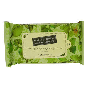 [The Face Shop] Herb Day Lip & Eye Remover Tissue - Cosmetic Love
