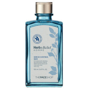 [The Face Shop] Herb & Relief Homme Sebum Control Skin(Toner) 150ml - Cosmetic Love