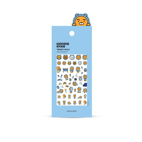 [The Face Shop] Hoodie Ryan Trendy Nails Art Sticker (Kakao Friends) 1EA
