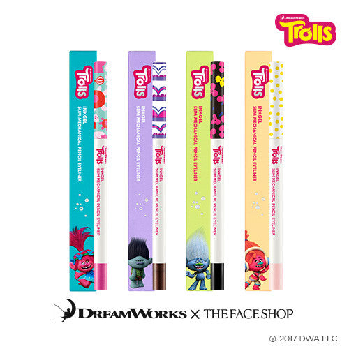 [The Face Shop] Ink Gel Slim Sharp Liner (Trolls Edition) 0.1g - Cosmetic Love