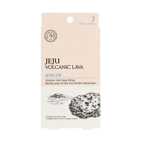 [The Face Shop] Jeju Volcanic Lava Ash Nose Strips Package - Cosmetic Love