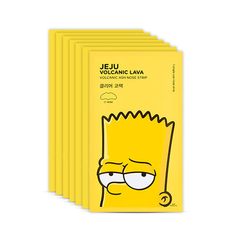 [The Face Shop] Jeju Volcanic Lava Volcanic Ash Nose Strip (The Simpsons Edition) 7 Sheets