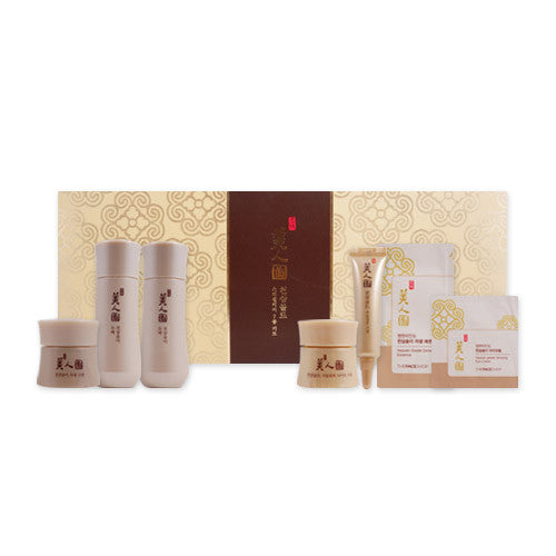 [The Face Shop] Myeonghan Miindo Heaven Grade Ginseng Special Care Kit (7 Items) - Cosmetic Love