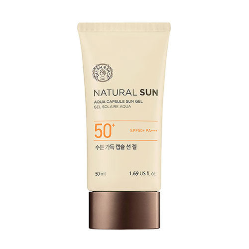 [The Face Shop] Natural Sun Eco Aqua Capsule Sun Gel - Cosmetic Love