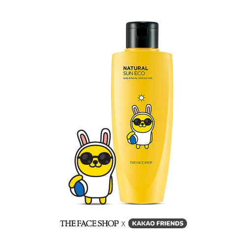 [The Face Shop] Natural Sun Eco Body & Family Sun Milk SPF40 PA+++ (Kakao Friends Edition) - Cosmetic Love