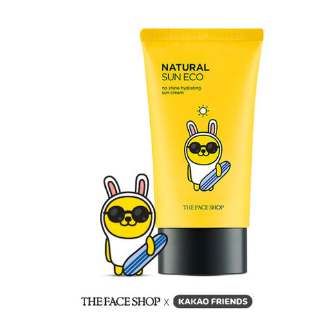 [The Face Shop] Natural Sun Eco No Shine Hydrating Sun Cream SPF40 PA+++(Kakao Friends Edition) - Cosmetic Love
