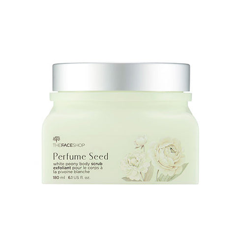 [The Face Shop] Perfume Seed White Peony Body Scrub 180ml - Cosmetic Love