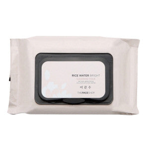 [The Face Shop] Rice Water Bright Cleansing Tissue - Cosmetic Love
