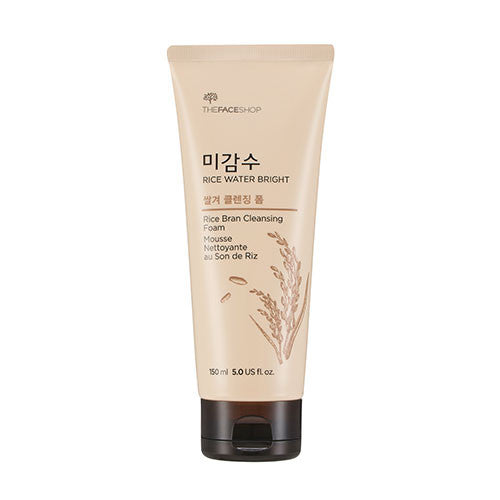[The Face Shop] Rice Water Bright Rice Bran Cleansing Foam (2016) - Cosmetic Love