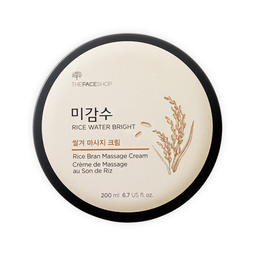 [The Face Shop] Rice Water Bright Rice Bran Massage Cream - Cosmetic Love