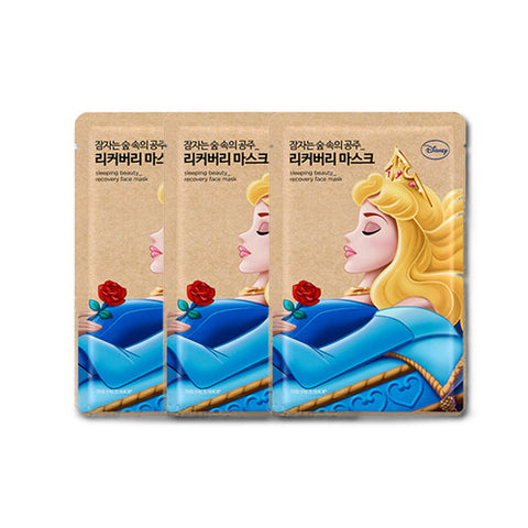 [The Face Shop] Sleeping Beayty_Recovery Face Mask 25g x 3PCS (Disney Princess Edition)