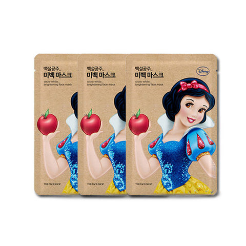 [The Face Shop] Snow White_Brightening Face Mask 25g x 3PCS (Disney Princess Edition)