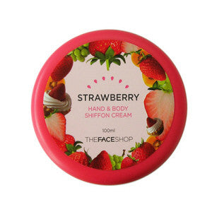 [The Face Shop] Strawberry Hand & Body Chiffon Cream - Cosmetic Love