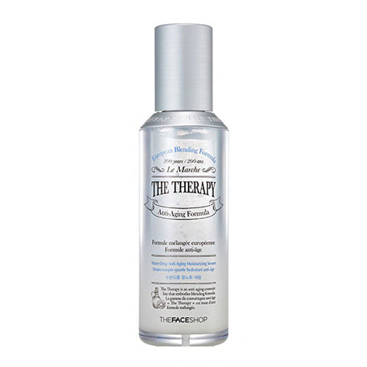 [The Face Shop] The Therapy Water Drop Anti-Aging Moisturizing Serum 45ml - Cosmetic Love