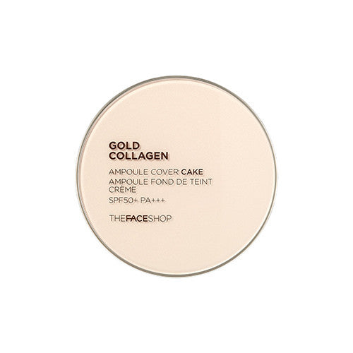 [The Face shop] Gold Collagen Ampoule Cover Cake SPF50+++ 11g - Cosmetic Love - 2