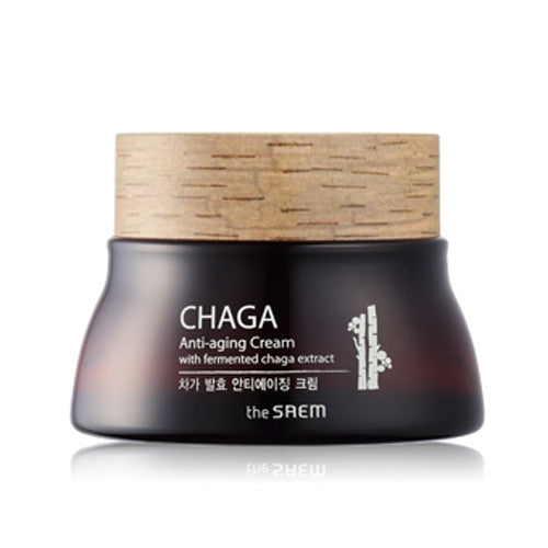 [The Saem] CHAGA Anti-aging Cream with fermented chaga extract 60ml - Cosmetic Love