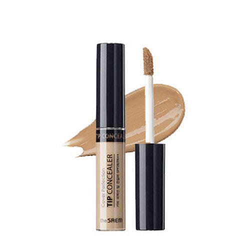 [The Saem] Cover Perfection Tip Concealer Contour Beige 6.5g - Cosmetic Love