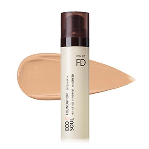 [The Saem] ECO SOUL Real Fit Foundation 40ml - Cosmetic Love