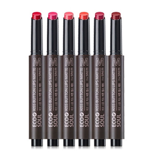 [The Saem] Eco Soul KISS Button Lips Matte 2g - Cosmetic Love