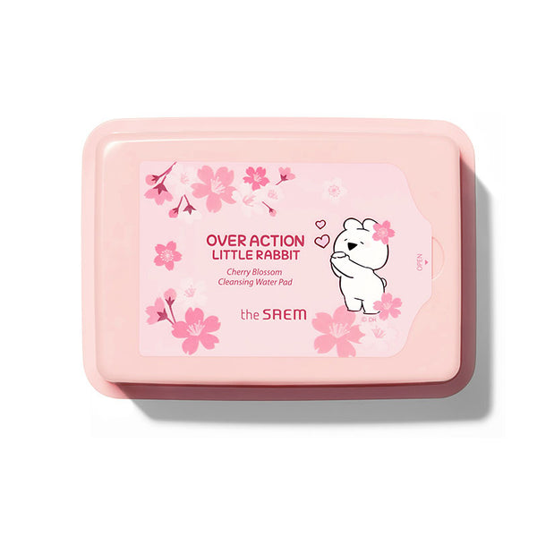 [The Saem] Healing Tea Garden Cherry Blossom Cleansing Water Pad (Over Action Little Rabbit)