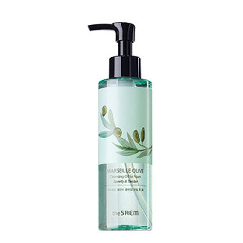 [The Saem] MARSEILLE OLIVE Cleansing Oil to Foam 180ml - Cosmetic Love