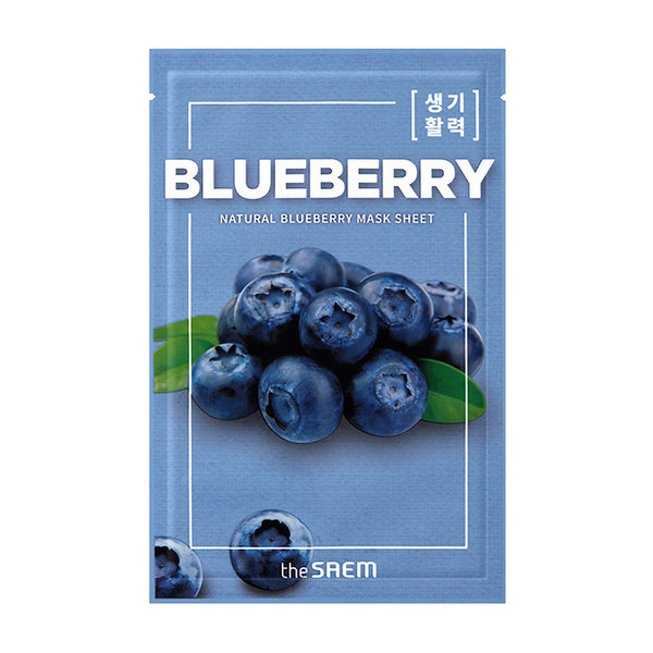 [The Saem] Natural Blueberry Mask Sheet 21ml