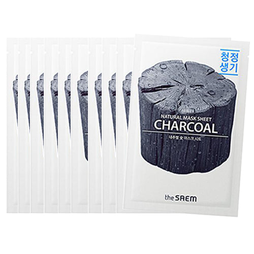 [The Saem] Natural Mask Sheet No3. 21ml #17 Charcoal x 10pcs