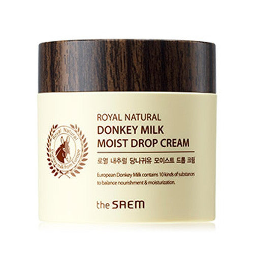 [The Saem] Royal Natural Donkey Milk Moist Cream 80ml - Cosmetic Love
