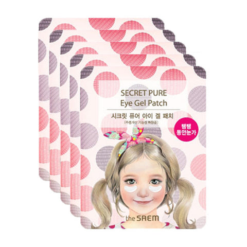[The Saem] Secret Pure Eye Gel Patch [Anti-wrinkle] 4g x 5PCS - Cosmetic Love