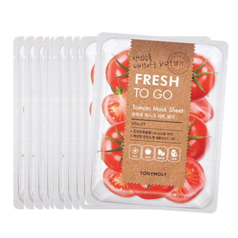 [Tonymoly] Fresh To Go Mask Sheet 22g #Tomato x 10pcs