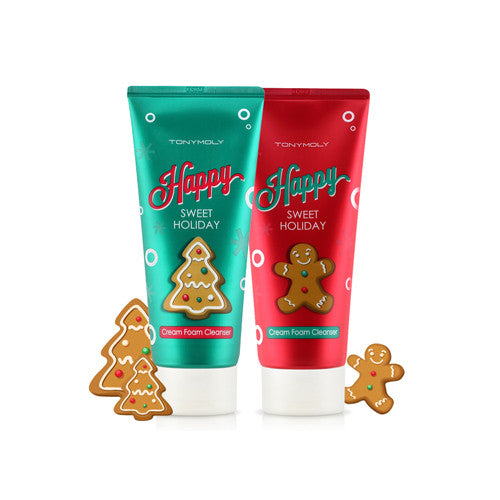 [Tonymoly] Happy Sweet Holiday Cream Foam Cleanser Duo - Cosmetic Love