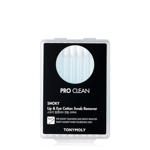 [Tonymoly] Pro Clean Smoky Lip & Eye Cotton Swab Remover