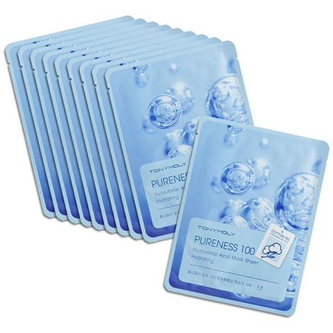 [Tonymoly] Pureness 100 Mask Sheet 21ml #01 Hyaluronic Acid x 10pcs