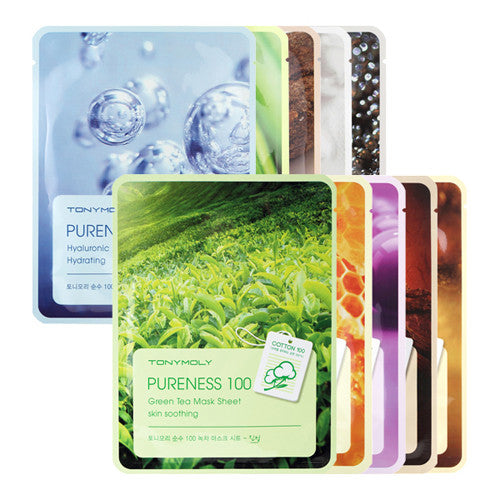 [Tonymoly] Pureness 100 Mask Sheet 21ml - Cosmetic Love