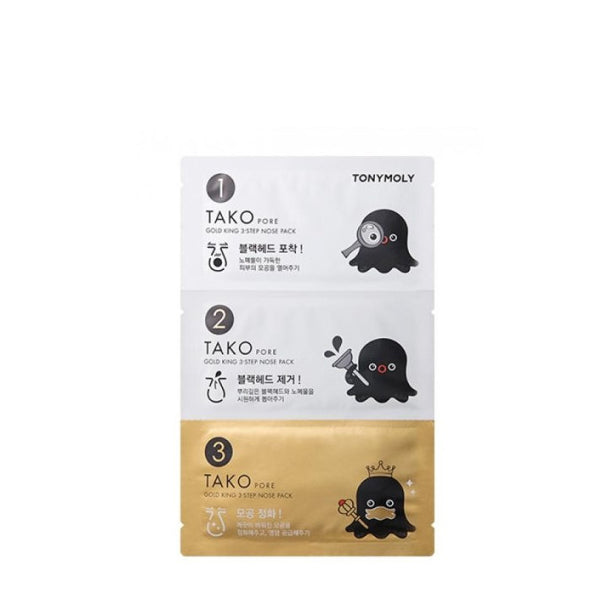 [Tonymoly] Tako Pore Gold King 3 Step Nose Pack 3g