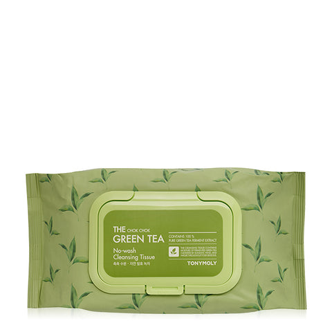 [Tonymoly] The Chok Chok Green Tea No Wash Cleansing Tissue 100 Sheets